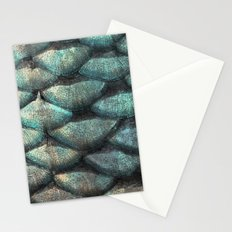 Aqua rose mermaid scales Stationery Cards