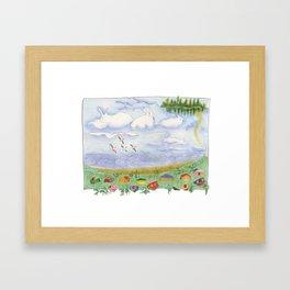 An Island Far Away Framed Art Print