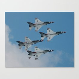 USAF Thunderbirds Diamond 4 Canvas Print