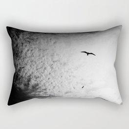 Black bird sky Rectangular Pillow