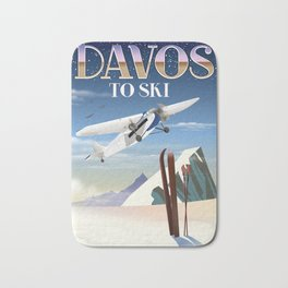 Davos ski poster Bath Mat