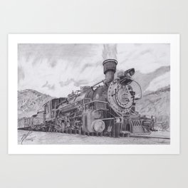 Durango and Silverton Steam Engine Art Print