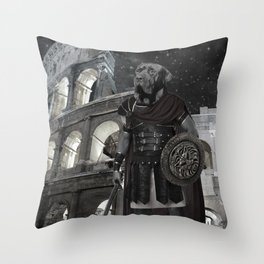 Neapolitan Mastiff Gladiator Throw Pillow