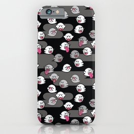 Mario Boo Ghost Pattern iPhone Case