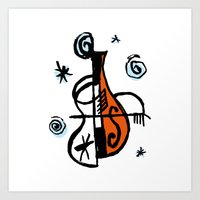 cello Art Prints featuring Cello by Ewen Prigent