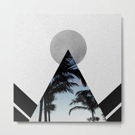 Tropical Mountain Metal Print