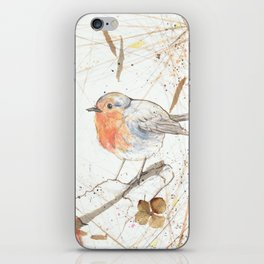 Kleine rote Vögelchen (Little red birdies) iPhone Skin