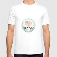 CatLove Mens Fitted Tee SMALL White
