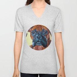 The Boxer Dog Lillibean Unisex V-Neck
