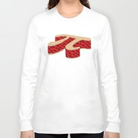pie Long Sleeve T-shirts featuring Pi Pie by Rryan