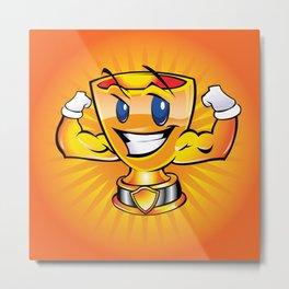 Gold cup cartoon  Metal Print