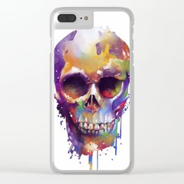 colorful skull Clear iPhone Case