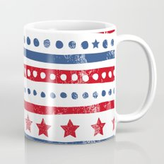 Stars and stripes American holiday patchwork pattern Mug