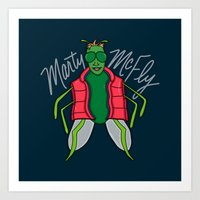 mcfly Art Prints featuring Marty McFly by Chelsea Herrick