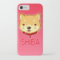 shiba iPhone & iPod Cases featuring Shiba  by SCAD Illustration Club