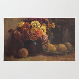Theodore Clement Steele - Fruit and Flowers. Rug
