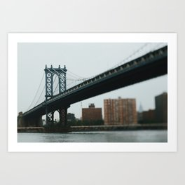 Tilt Shift Bridge Art Print