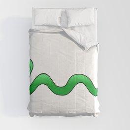 Cute Baby Green Cartoon Snake  Comforters