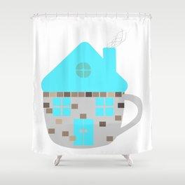 mug house  Shower Curtain