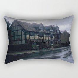 England Art Print * Vintage Photo * 1950's * Shakespeare * Home * Kodachrome * European * Color Rectangular Pillow