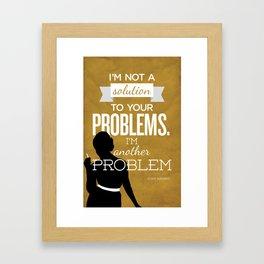 Mad Men Typographic poster - Joan Framed Art Print