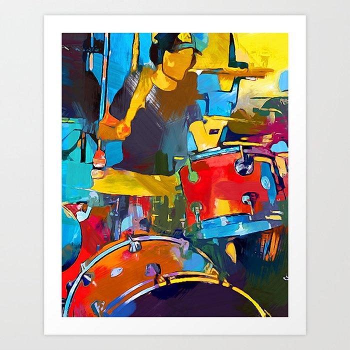 Drummer Kunstdrucke