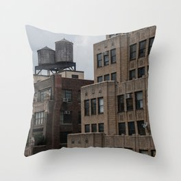 Hell's Kitchen's rooftops Throw Pillow