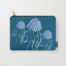 Watercolor Swimming Jellyfish Carry-All Pouch