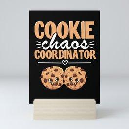 Cookie Chaos Coordinator Funny Scout Cookie Dealer Mini Art Print