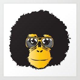 Monkey Retro Art Print