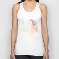 bubbles Tank Tops featuring Bubbles by Ariana Perez