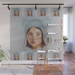 Girl in the Hat by Lu Wall Mural
