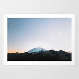Mt. Baker Glow Art Print