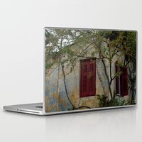 greek Laptop & iPad Skins featuring Greek Cottage by Upperleft Studios