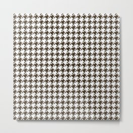 Brown And White Combination Houndstooth Metal Print