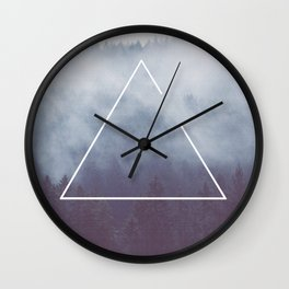 Photography - Triangle in the forest Wall Clock
