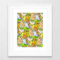 sloths Framed Art Prints featuring Sloths by Vincy Cheung