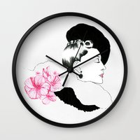 helen green Wall Clocks featuring Helen by youdesignme