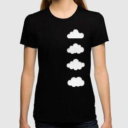 Cartoon Blue Sky and Fluffy Clouds Pattern T-shirt