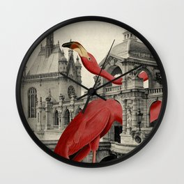 NUMBER 17 (FLAMINGO) Wall Clock
