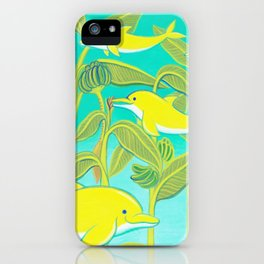 Lucky dolphins iPhone Case