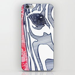 Zebra Portrait iPhone Skin