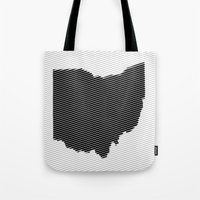 ohio state Tote Bags featuring Ohio State Line by Beastie Toyz