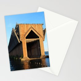 Abandoned Ore Dock at Sunset Stationery Cards
