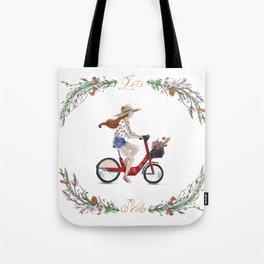 L'été à vélo Tote Bag