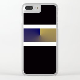 Team Colors 3..navy,gold Clear iPhone Case