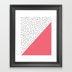 Geometric grey and pink design Framed Art Print