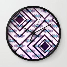 Ultraviolet ethnic pattern Wall Clock