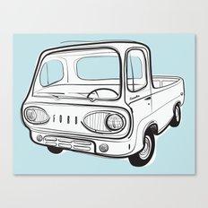 econoline pick-up Canvas Print