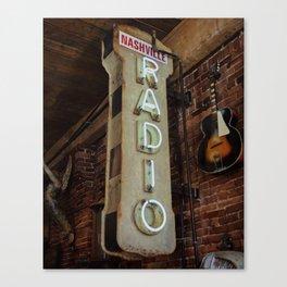 Nashville Radio Canvas Print